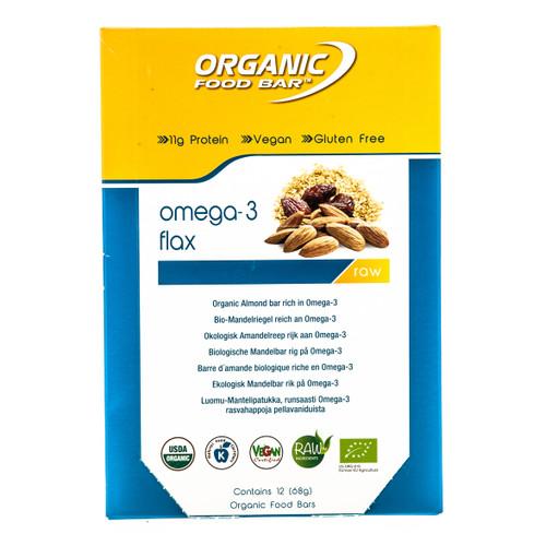 Organic Food Bar Omega-3 Bar Box - 12 x 68g