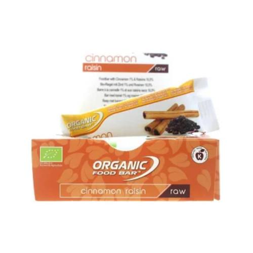 Organic Food Bar Cinnamon Raisin Raw Bar Box - 12x 50g