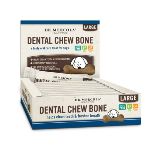 Dr Mercola Healthy Pets Dental Bone Large Box  - 12 x 63g