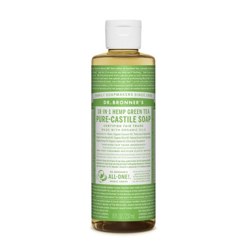 Dr Bronner's Organic Green Tea Liquid Soap - 237ml