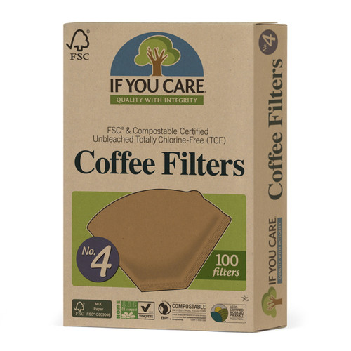 If You Care Coffee Filters No.4 Size - 100 Filters