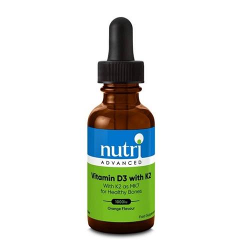 Nutri Advanced Vitamin D3 Drops with K2 1000iu (Orange Flavour) - 30ml