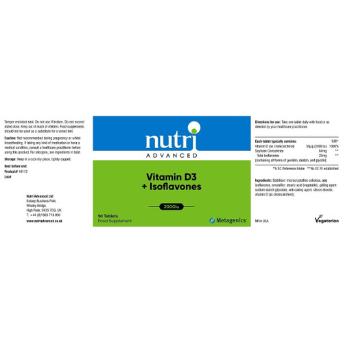 Nutri Advanced Vitamin D3 and Isoflavones - 90 tablets