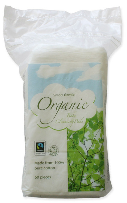 Simply Gentle Organic Baby Cleansing Pads - 60 pads