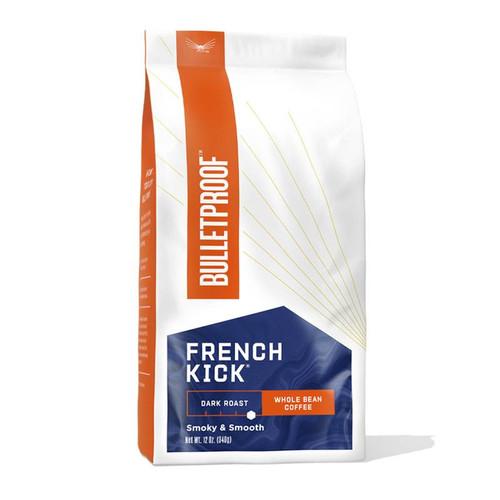 Bulletproof Upgraded French Kick Dark Roast Whole Bean Coffee - 340g (12oz)