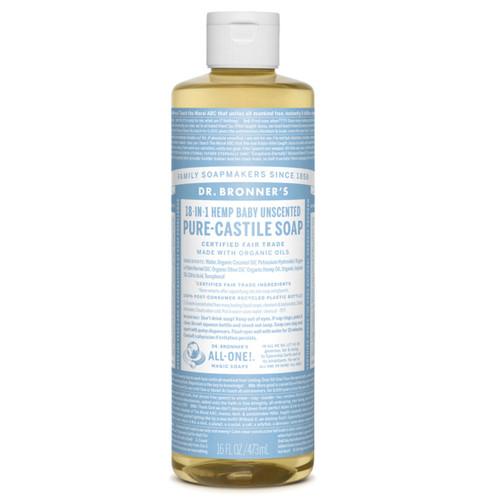 Dr Bronner's Organic Baby Mild Liquid Soap - 473ml
