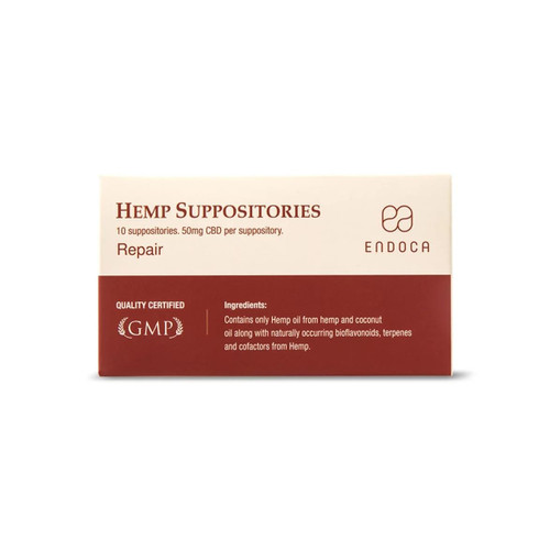 Endoca Suppositories 500mg - 10 per pack