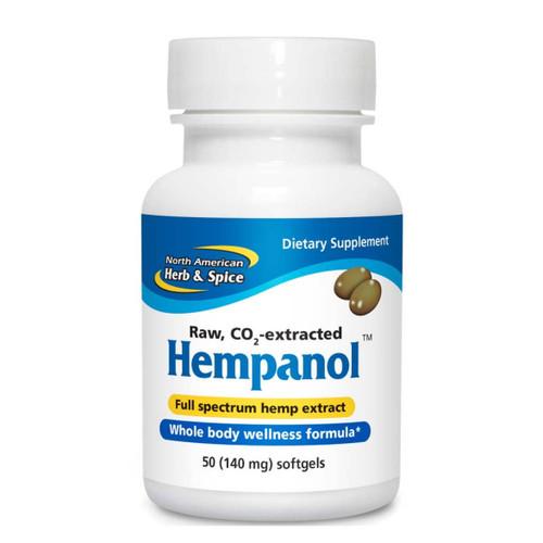North American Herb & Spice Hempanol - 50 gel capsules - Food Supplement