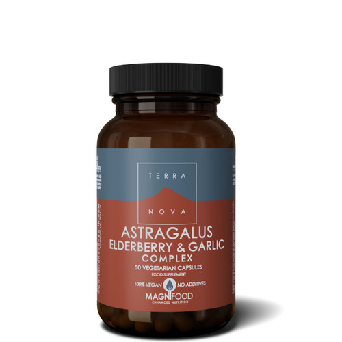Terranova Astragalus, Elderberry & Garlic Complex (Resistance Support) - 50 capsules