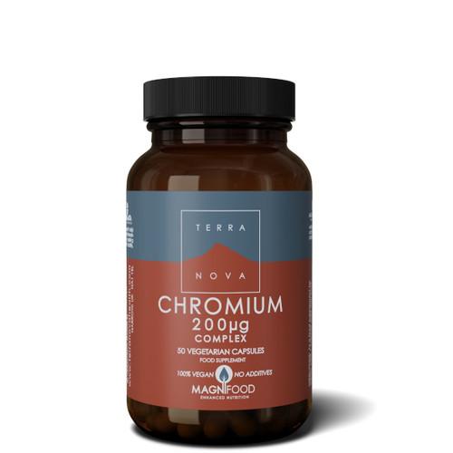 Terranova Chromium 200ug complex - 50 capsules