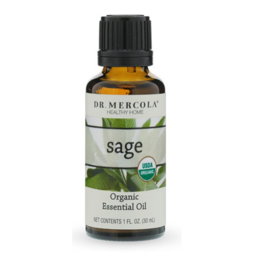 Dr Mercola Organic Sage Essential Oil - 30ml