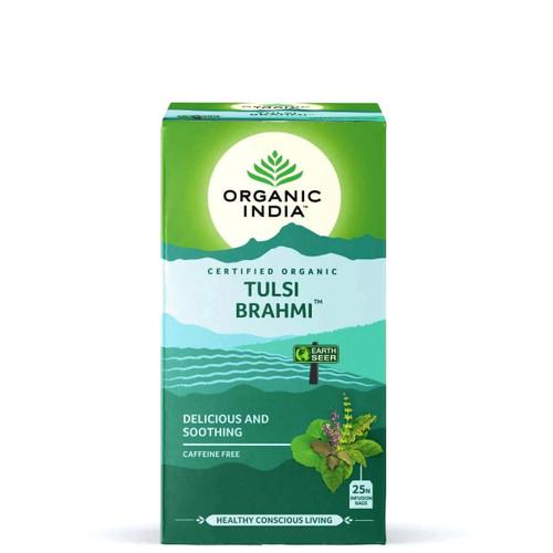Organic India Brahmi Tulsi Tea - 25 Teabags
