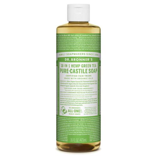 Dr Bronner's Organic Green Tea Liquid Soap - 473ml
