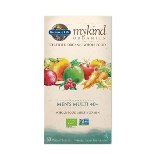 Garden of Life Mykind Organics Men's Multivitamin 40+ - 60 tablets