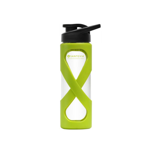 Santevia Glass Water Bottle Green - 500ml