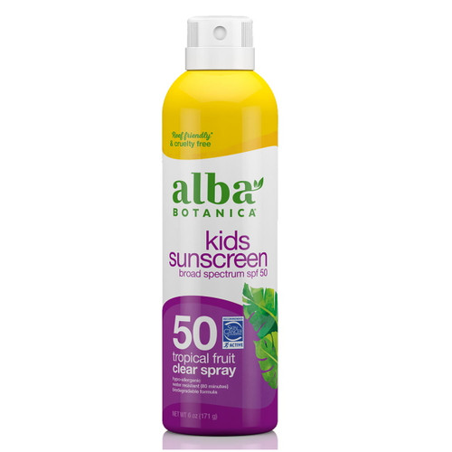 Alba Kids Suncreen Tropical Fruit Clear Spray SPF50 - 177ml