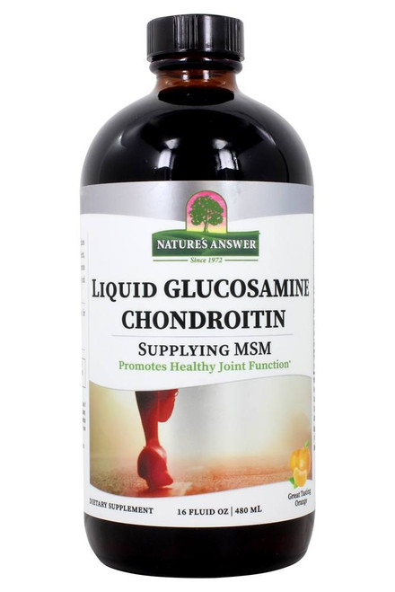 Nature's Answer Liquid Glucosamine Chondroitin Orange Flavour - 480ml