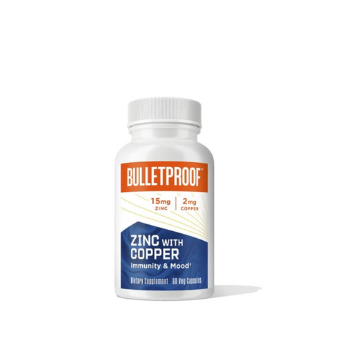 Bulletproof Zinc with Copper - 60 capsules