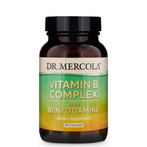 Dr Mercola Vitamin B Complex with Benfotiamine - 60 capsules
