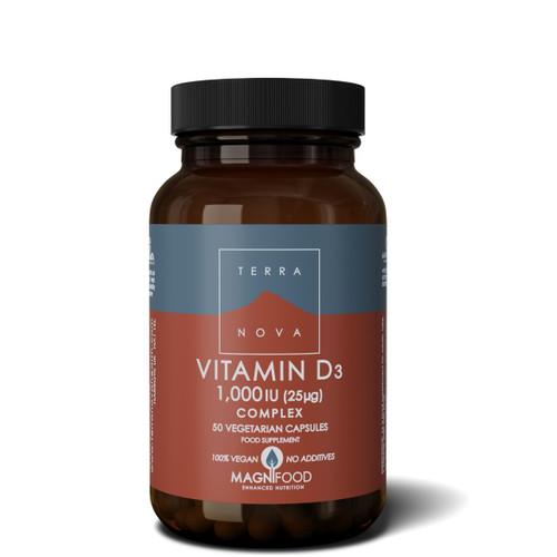 Terranova Vitamin D3 1000iu - 50 capsules