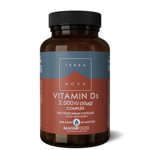Terranova Vitamin D3 2000iu - 100 capsules