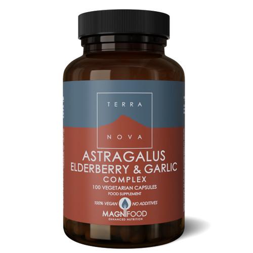Terranova Astragalus, Elderberry & Garlic Complex (Resistance Support) - 100 capsules