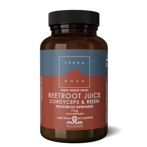 Terranova Beetroot Juice Cordyceps & Reishi Pre Workout Super-Blend - 70g