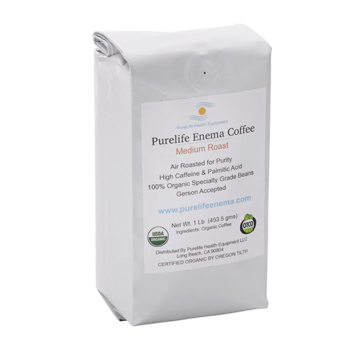 Purelife Health Organic Enema Coffee Medium Roast (Ground) - 1lb