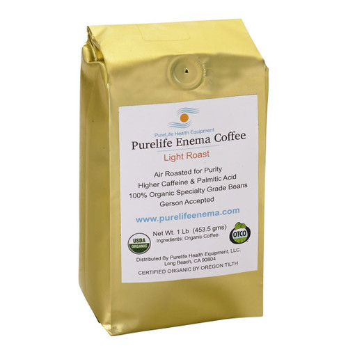 Purelife Health Organic Enema Coffee Light Roast (Ground) - 1lb