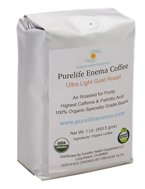 Purelife Health Organic Enema Coffee Ultra Light Roast (Ground) - 1lb