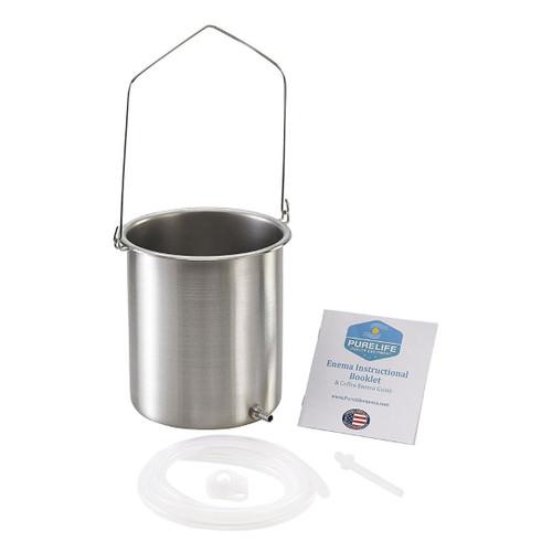 Purelife Health USA 304 Stainless Steel Enema Kit - 2Qt