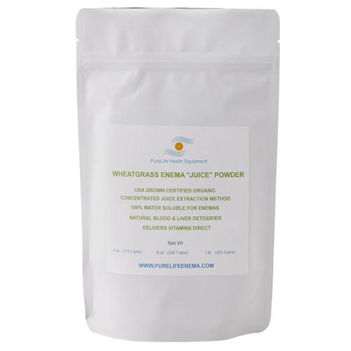 Purelife Health Organic Wheatgrass Enema Juice Powder - 113g
