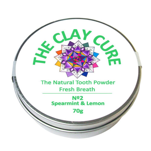 The Clay Cure Company Spearmint & Lemon Tooth Powder - 70g
