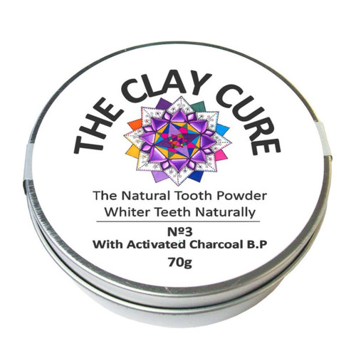 The Clay Cure Activated Charcoal Tooth Powder - 70g