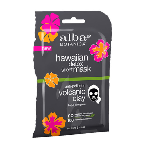 Alba Hawaiian Volcanic Clay Detox Face Sheet Mask