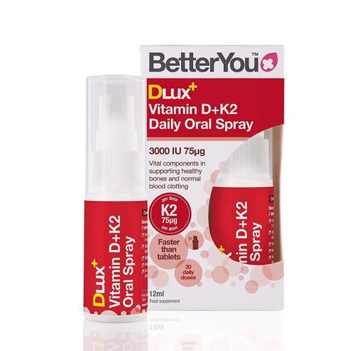 BetterYou DLux Vitamin D & K2 Daily Spray - 12ml