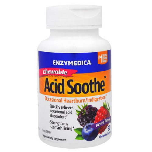 Enzymedica Acid Soothe Chewable - 30 tablets