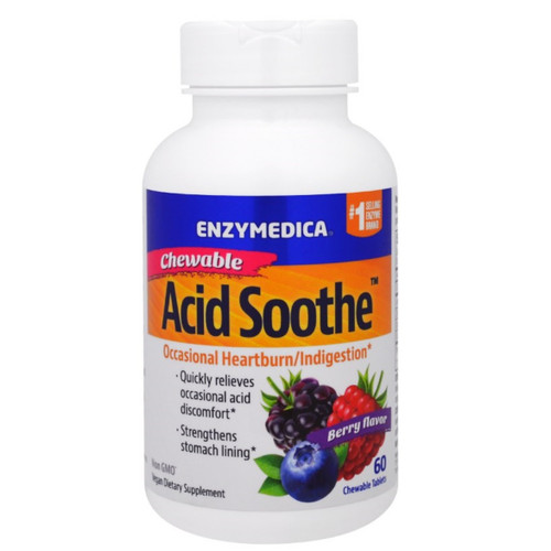 Enzymedica Acid Soothe Chewable - 60 tablets