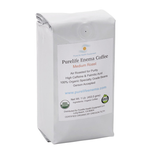Purelife Health Organic Enema Coffee Medium Roast (Whole Bean) - 1lb
