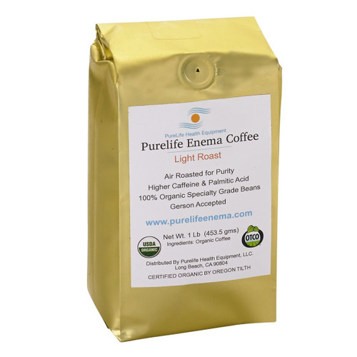 Purelife Health Organic Enema Coffee Light Roast (Whole Bean) - 1lb
