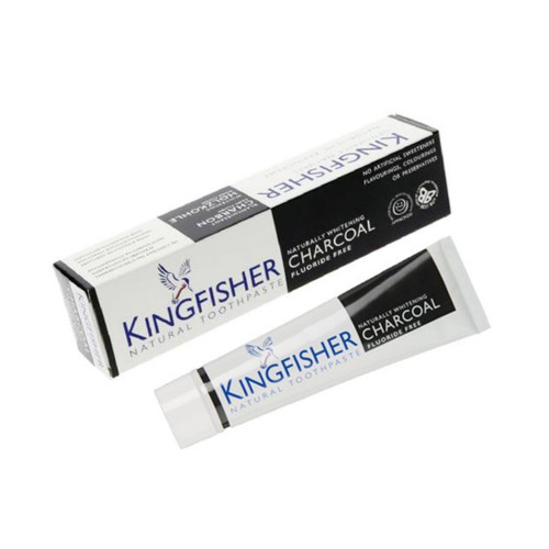 King Fisher Naturally Whitening Charcoal Toothpaste (Fluoride Free) - 100ml