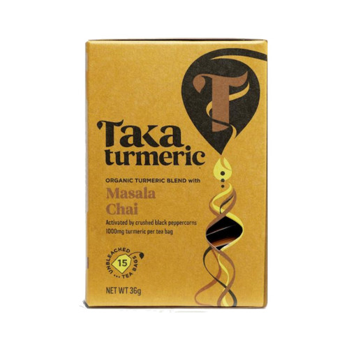 Taka Turmeric Organic Masala Chai Tea - 15 teabags
