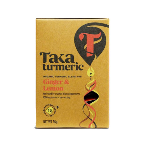 Taka Turmeric Organic Ginger & Lemon Tea - 15 teabags