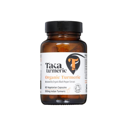 Taka Turmeric Organic Turmeric with Black Pepper Extract - 60 capsules