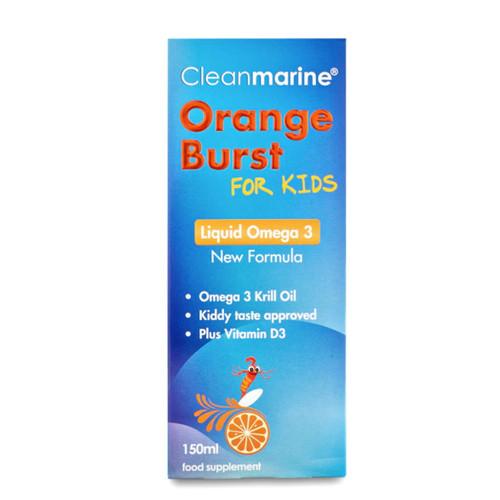 Cleanmarine Krill Oil for Kids Liquid Orange Burst- 150ml