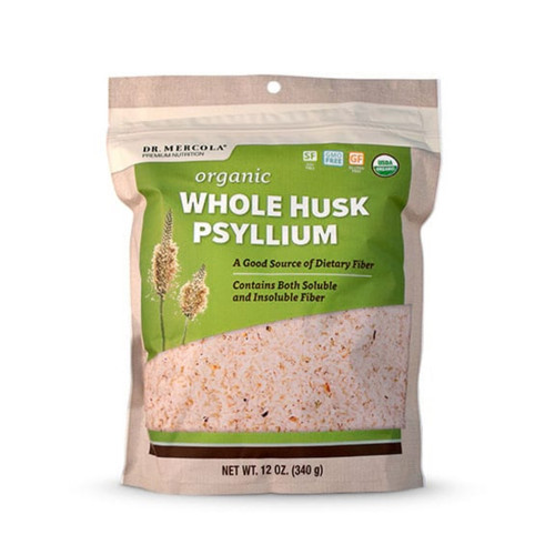 Dr Mercola Organic Whole Husk Psyllium - 12oz