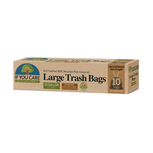 If You Care 89% Recycled Large Trash Bags - 10 pack