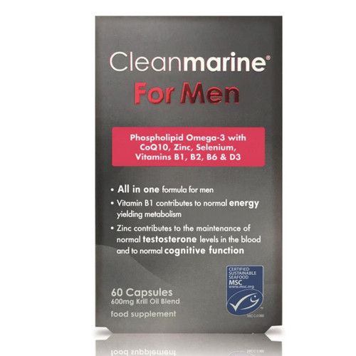 Cleanmarine Krill Oil for Men - 60 capsules
