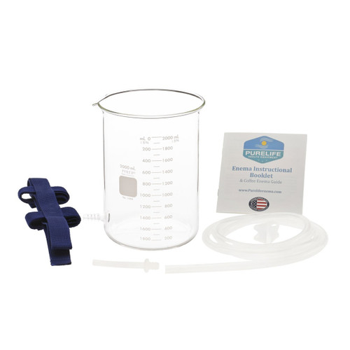Purelife Glass Enema Kit 2 QT with Harness