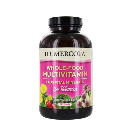 Dr Mercola Whole - Food Multivitamin PLUS for Women - 240 tablets